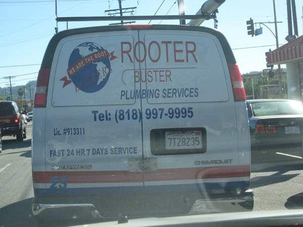 A source of much amusement (we now know Rooter means Plumber or drainlayer in America!) © A Coster