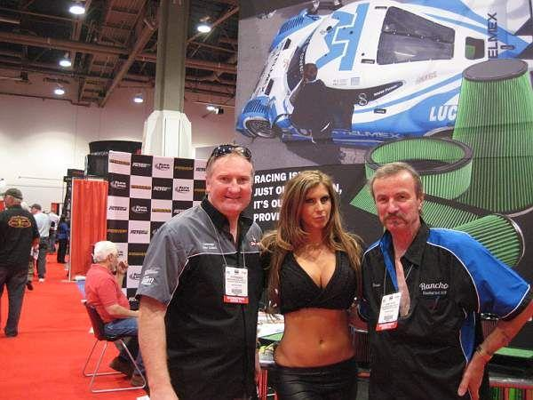 Horse & Pete with a 'friend' at SEMA © A Coster