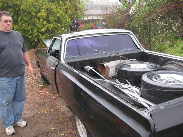 Our Mate Ed beside an El Camino - it went well! © A Coster