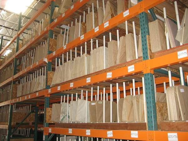 Small part of the huge warehouse where we buy some of our glass © A Coster